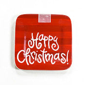 "Happy Christmas Mini Platter 9.25"" Square"