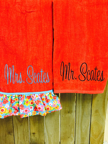 Mr. and Mrs. Beach Towels