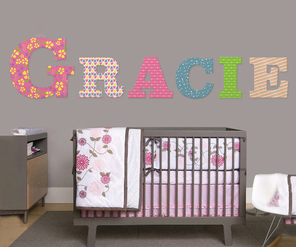 Name Letters Wall Art Girl Nursery