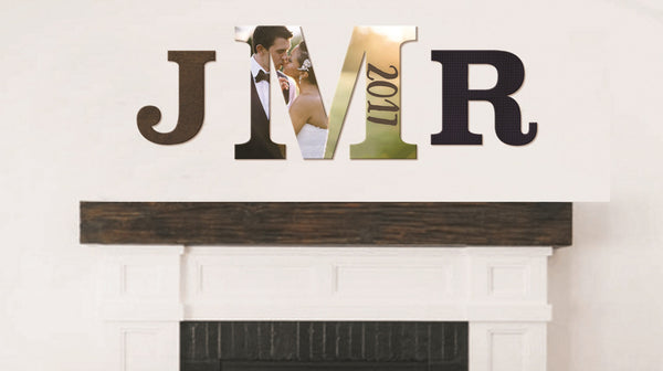 Wedding Monogram Personalized Wall Art