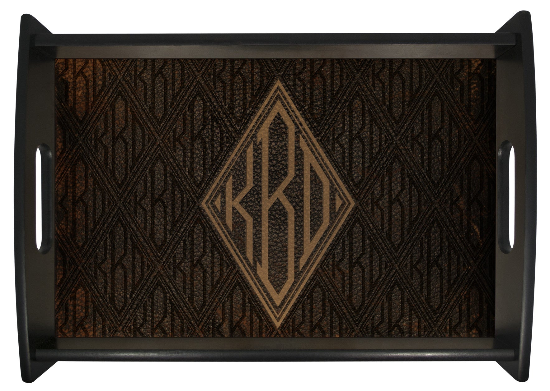 Leather Look Monogram Tray