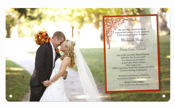 Wedding Invitation and Photo Custom Personalized