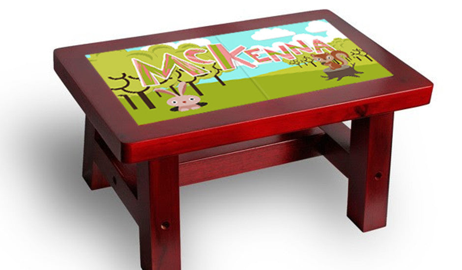 Forest step stool for boys and girls!