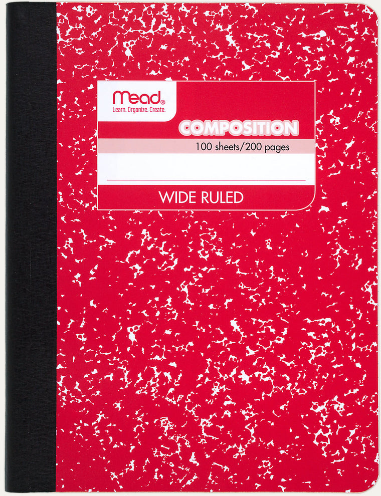Butterfly 7: Mead Fashion Color Composition Book-Wide Rule (09918)