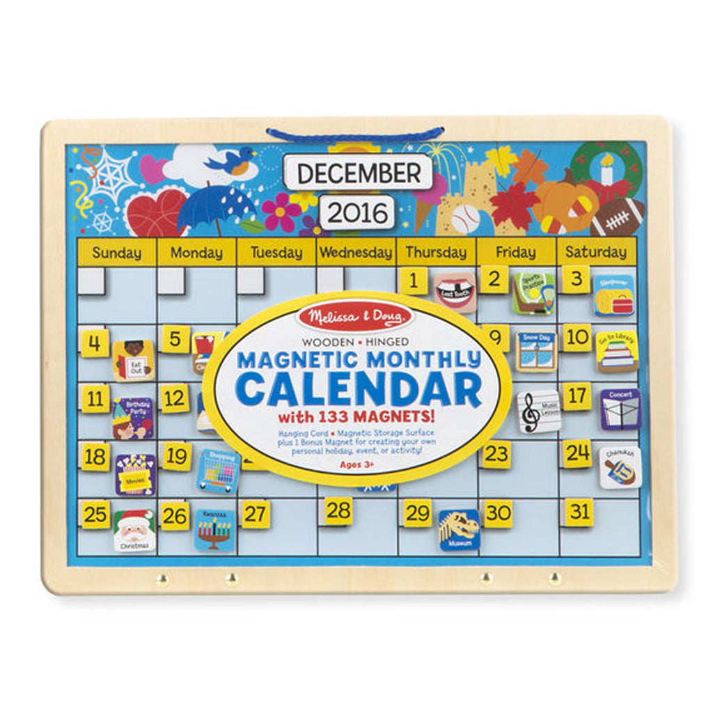 Butterfly 7: Melissa & Doug Magnetic Monthly Calendar (5058)