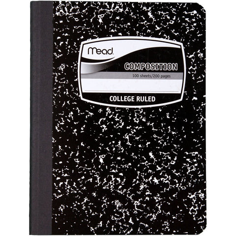 Mead Black Composition Notebook 200 Pages-College Rule (9932)