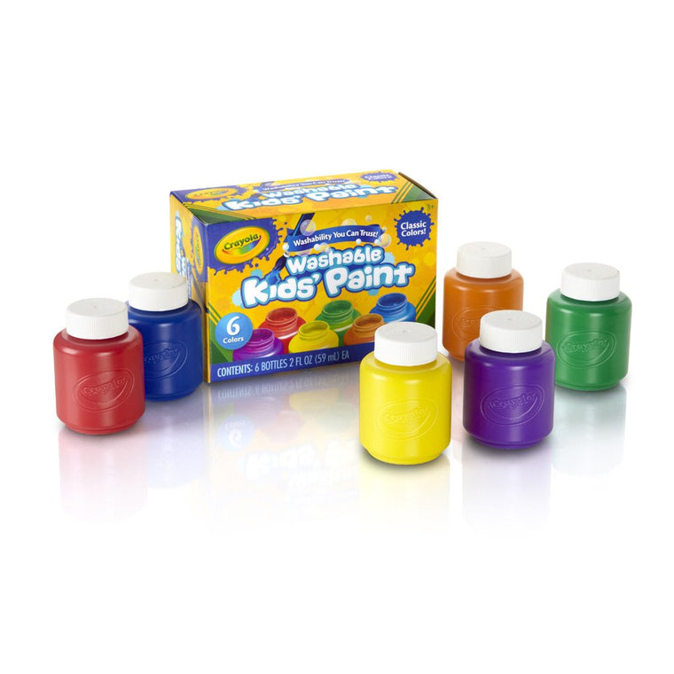 Crayola 6 Color Washable Kids Paint (54-1204)