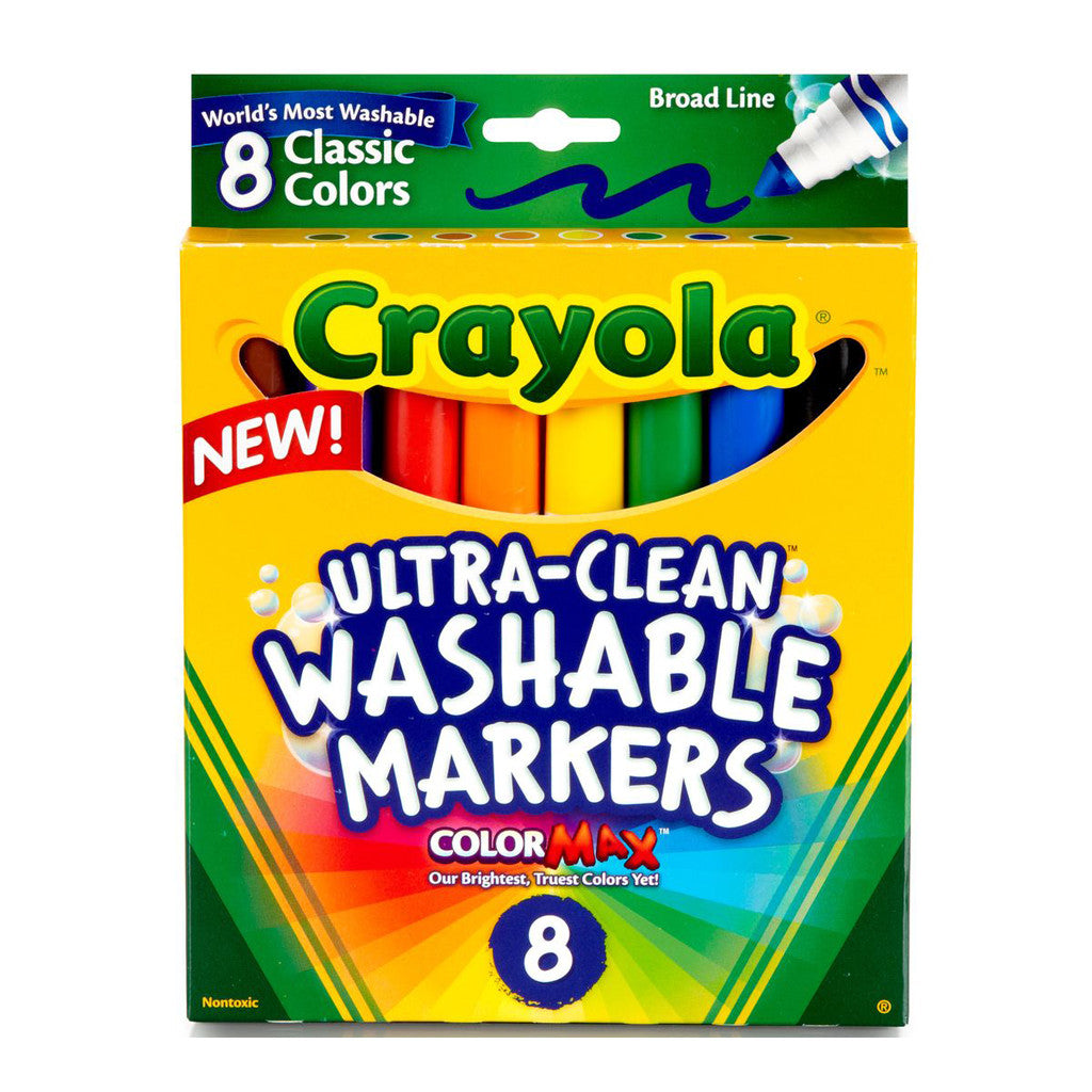Crayola Ultra-Clean Washable Markers 8 Ct.-Classic Colors