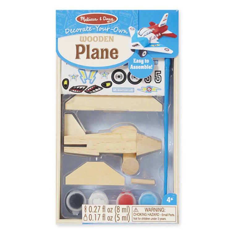 At Butterfly: Melissa & Doug DYO Wooden Plane (#9518)