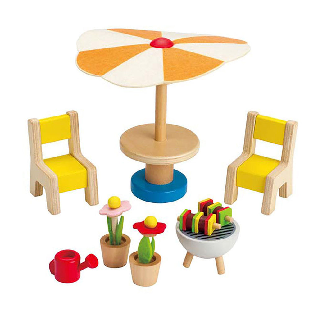 Hape Wooden Doll House Accessory- Patio Set (E3460)