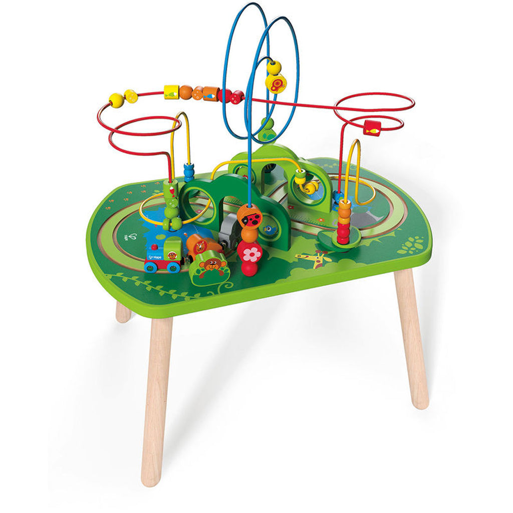 Hape Wooden Bead Maze Activity Table Jungle Play U0026 Train (#E3801) Free ...