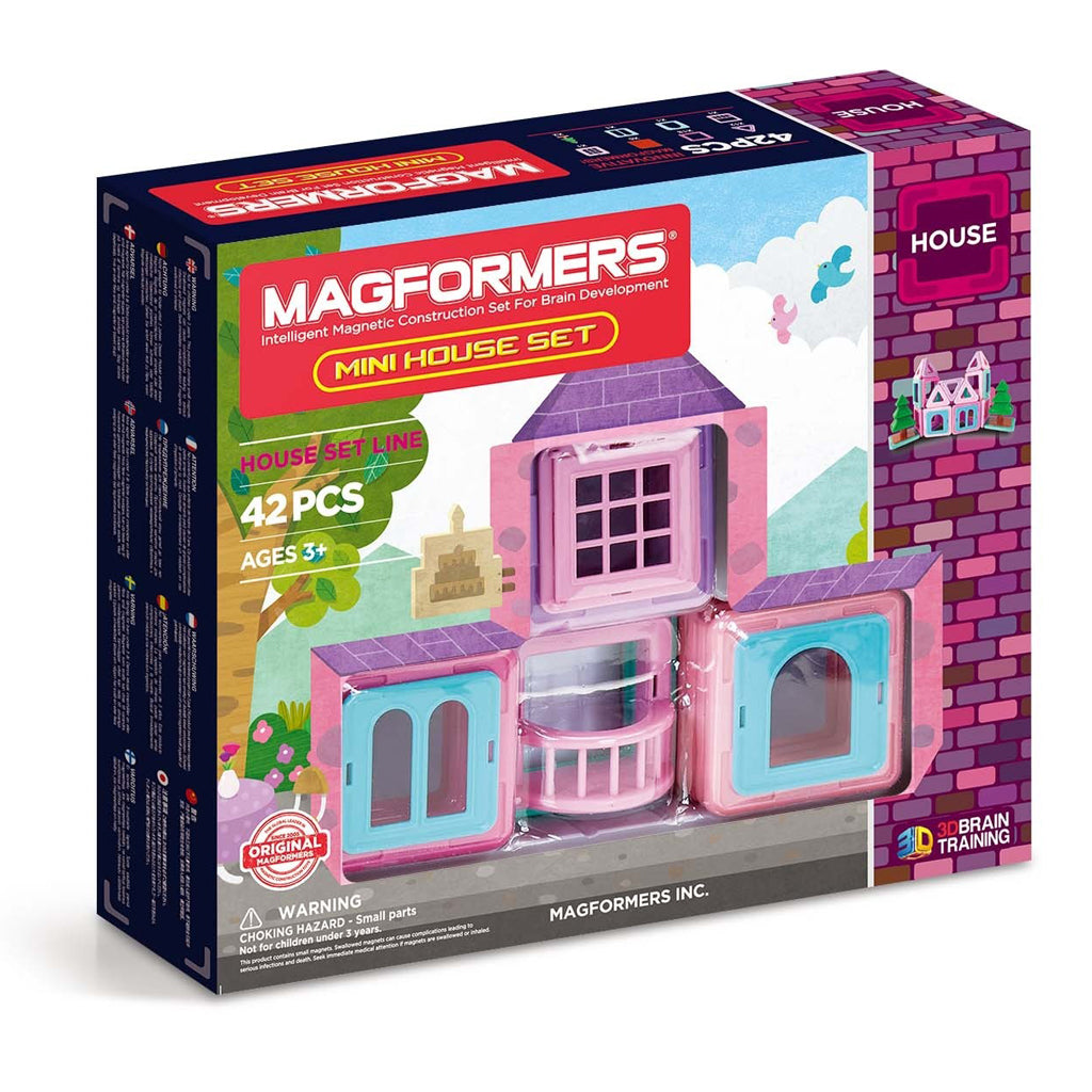 Magformers Magnetic Tile Construction Set-Mini House Set 42 Pcs (#05005)