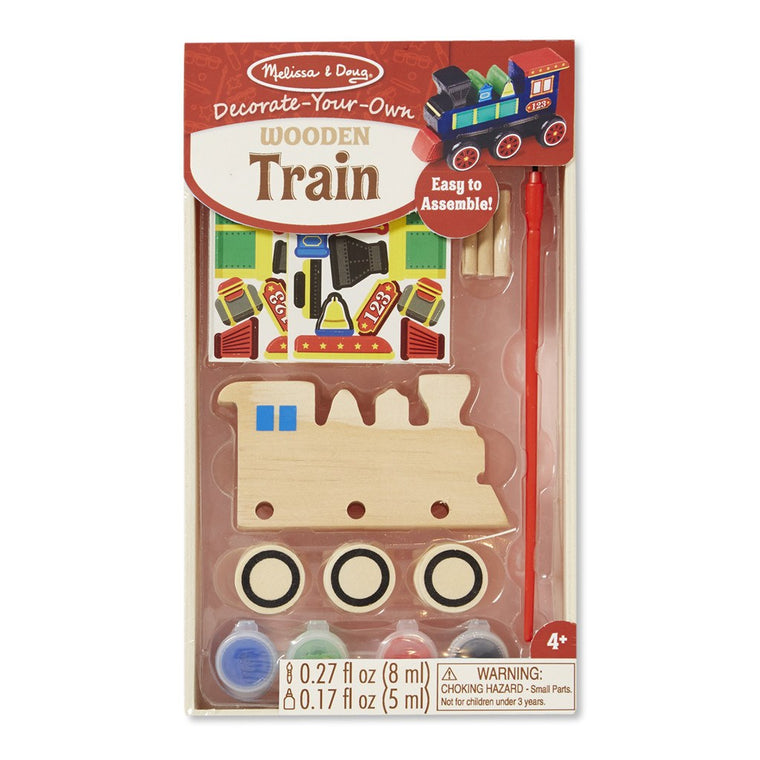 Butterfly 7: Melissa & Doug DYO Wooden Train (#8846)
