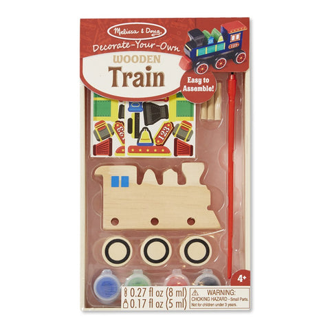 Butterfly 7: Melissa & Doug DYO Wooden Train (#8846) 2
