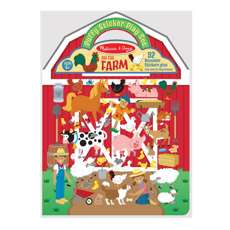 Butterfly 7: Melissa & Doug Puffy Sticker Play Set-On the Farm (#9408)