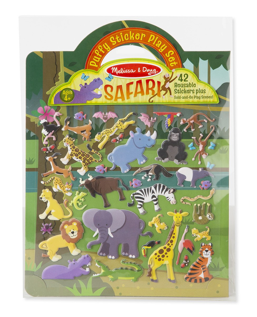 Butterfly 7: Melissa & Doug Puffy Sticker Play Set- Safari (#9106)