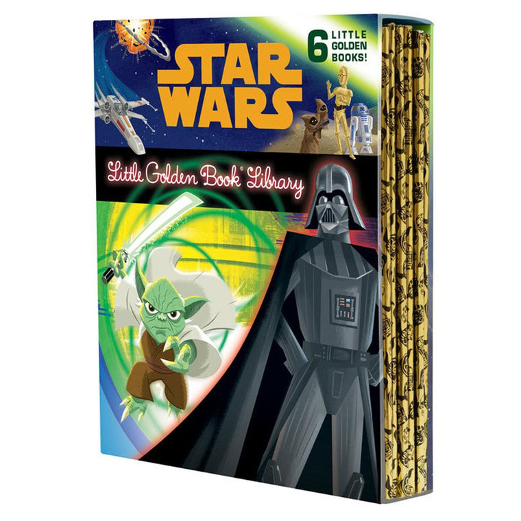 Star Wars Little Gold Book Library-6 Books