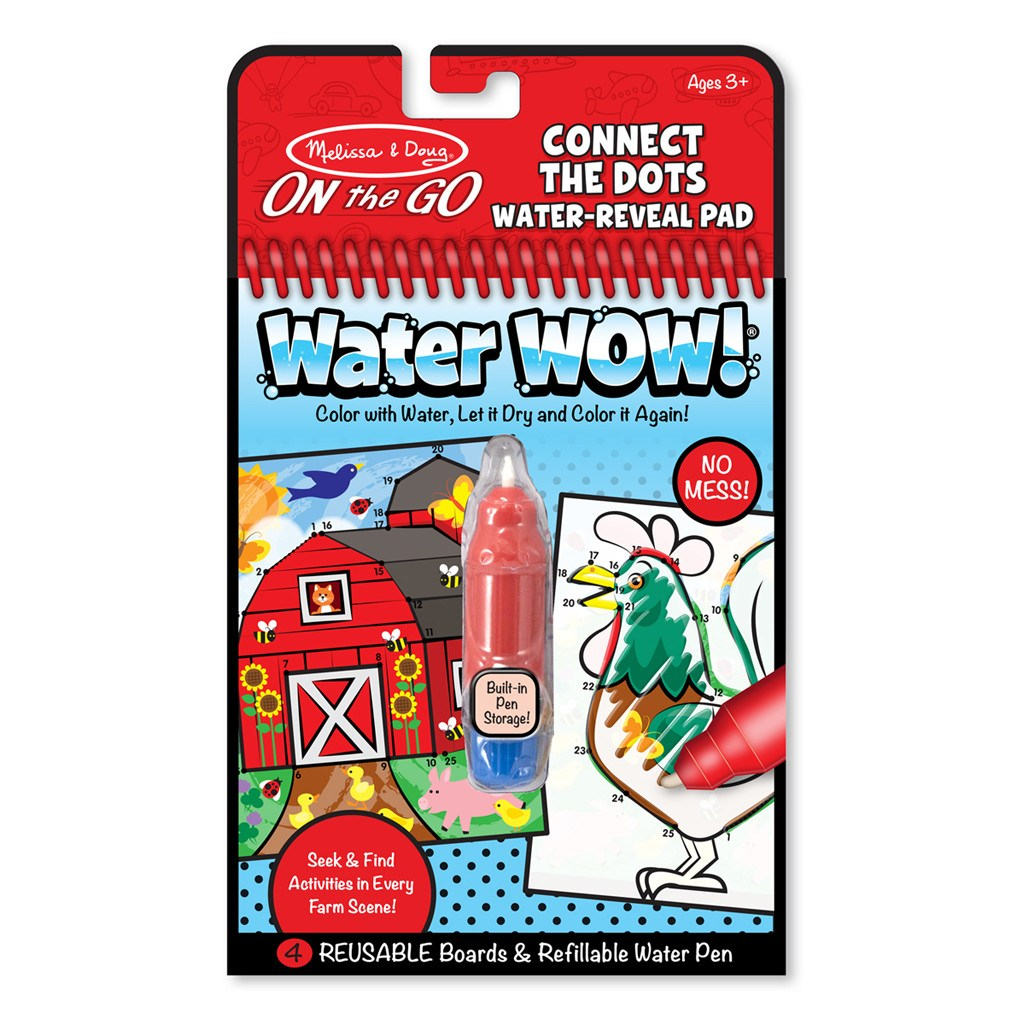 Melissa & Doug Water Wow On the Go Activity-Farm Connect the Dots (#9485)