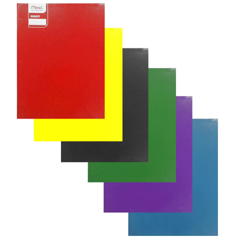 Mead 2 Pocket Laminated Folder Value Pack-6 Ct.