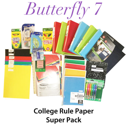 Butterfly 7 Back to School Super Pack-College Rule