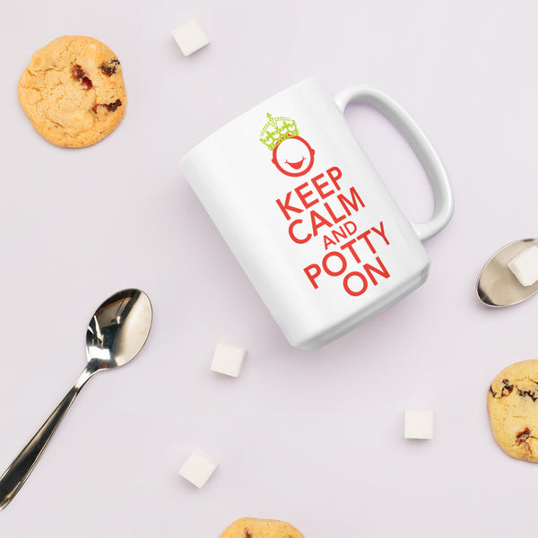 Royal Keep Calm And Potty On Mug