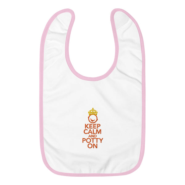 "Royal ""Keep Calm and Potty On"" Baby Bib"