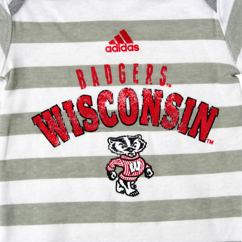 Wisconsin Boys Snap-tee - Adidas