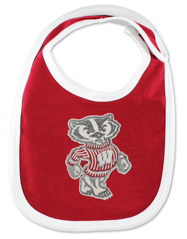 Wisconsin Lil' Badger Bib/Bootie & Snap-Tee Set by Adidas