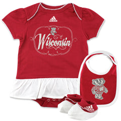 Lil' Badger Bib/Bootie & Snap-Tee Set by Adidas