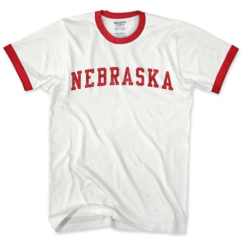 Nebraska Where Legends Are Made Ringer Tee