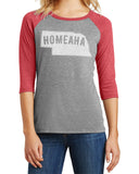 Women's Homeaha Raglan by RZR - Grey - LS