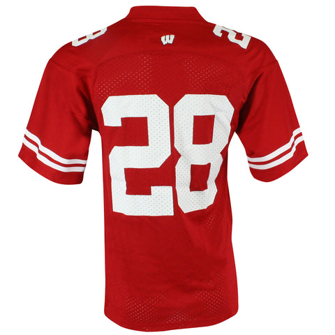Replica Wisconsin Home Football Jersey #28 - SS - Red
