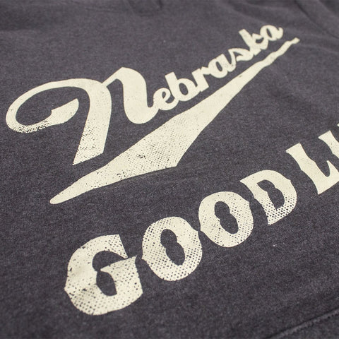 Men's Nebraska Good Life Hoodie - Charcoal - LS