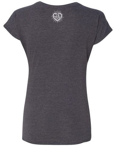 Nebraska Heart Women's by RZR- V-Neck - Black