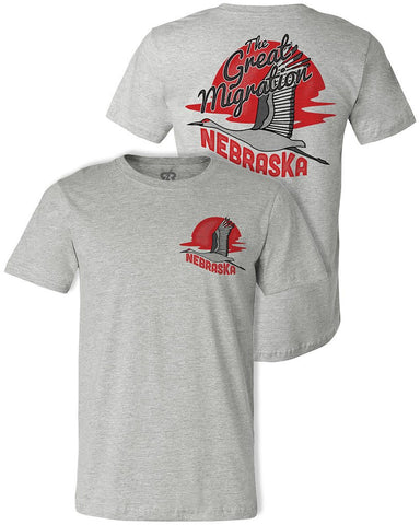 Nebraska, The Great Migration Tee - Grey - SS