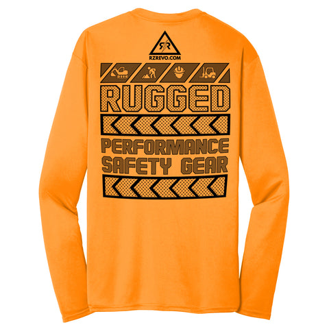 Paragon Construction Work Shirt-Safety Orange