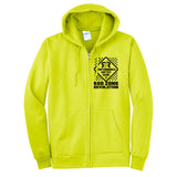 Men's Construction Work Full Zip Hoodie-Safety Green