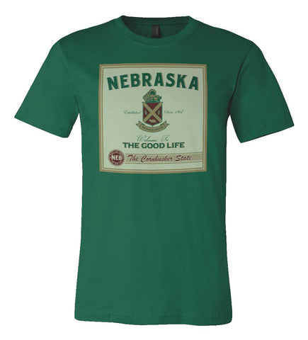 The Spirit of Nebraska Tee by RZR - Green - SS
