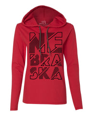 Nebraska Hoody Tee by RZR - LS - Red