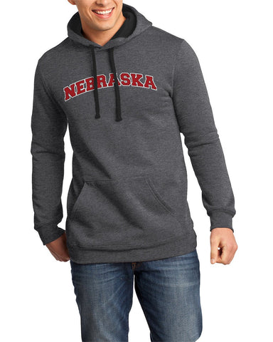 Tone on Tone Nebraska Hoody by RZR - Charcoal - LS
