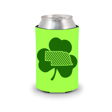 Nebraska Luck of the Irish Koozie - Green