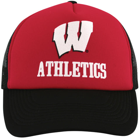 Wisconsin Athletics Mesh Snapback Trucker Hat