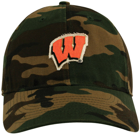 Front of Camo University of Wisconsin Hat Patch