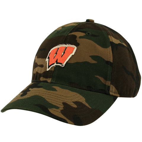 Wisconsin Badger Camouflage Hat