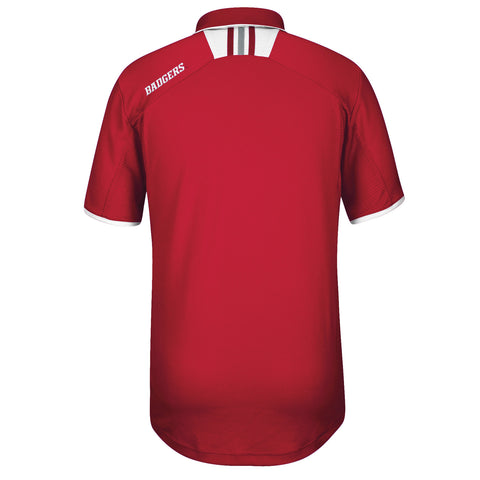 Badgers Climalite Coaches Polo by Adidas - Red - SS