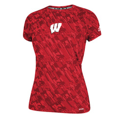 Ladies Wisconsin Performance Tee-Adidas