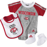 Wisconsin Newborn Creeper Bib & Bootie Set