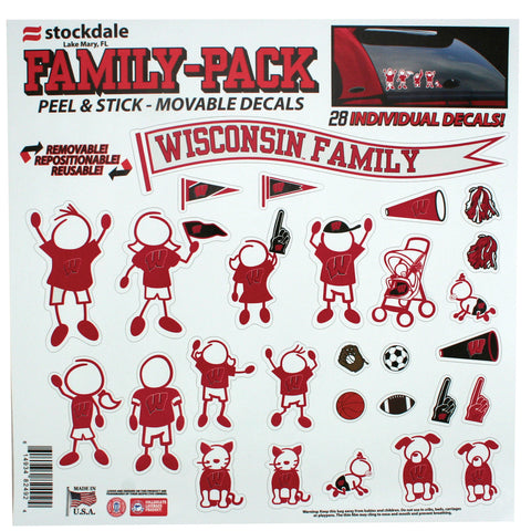 Wisconsin Family Auto Decal Set