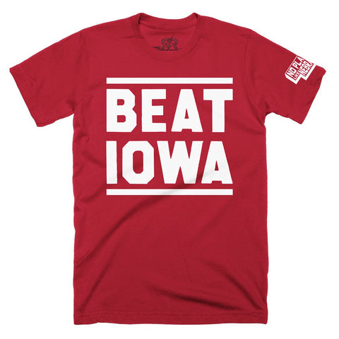 Men's Beat Iowa Tee by RZR - Red - SS