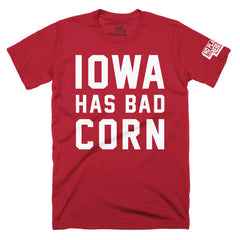 Iowa Has Bad Corn Tee by RZR - Red - SS
